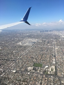 Flying into LAX