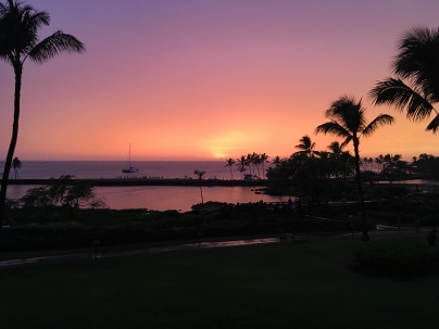 Sunset over Waikoloa Beach